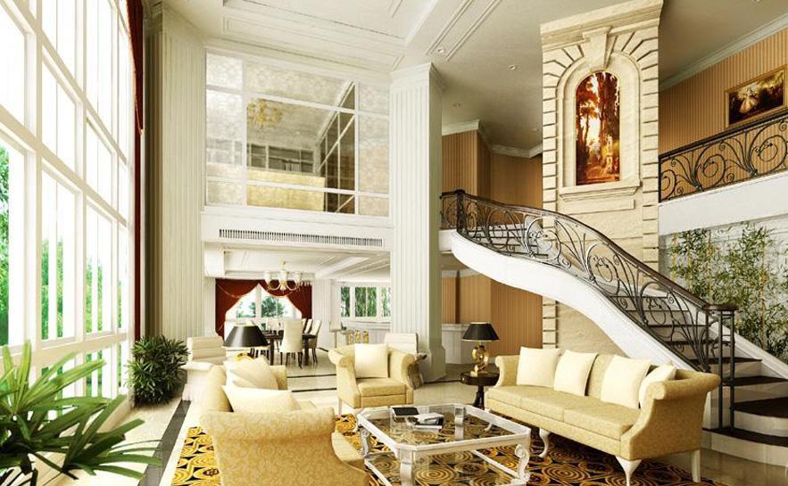 二室二厅欧式电视背景墙设计效果图片