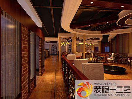 饭店吧台设计图_客厅餐厅一体黑色小餐桌摆放效果图欣赏_设计456装修效果图
