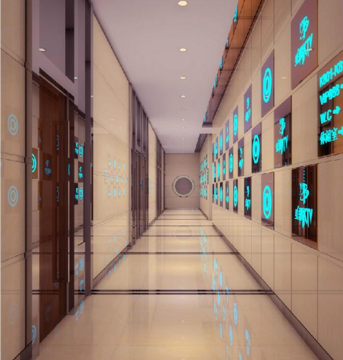 ktv走廊黄色地砖装修效果图欣赏