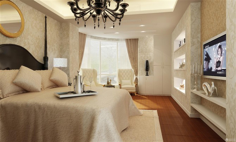 欧式卧室窗帘布艺装修效果图片