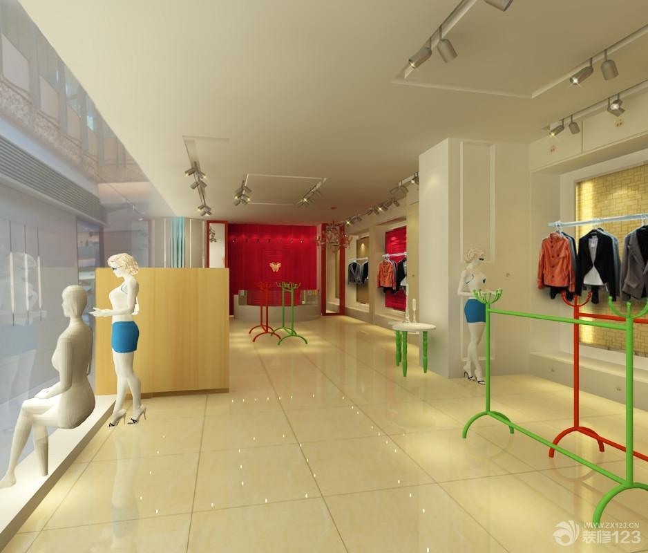 简约风格服装店面黄色地砖设计效果图欣赏