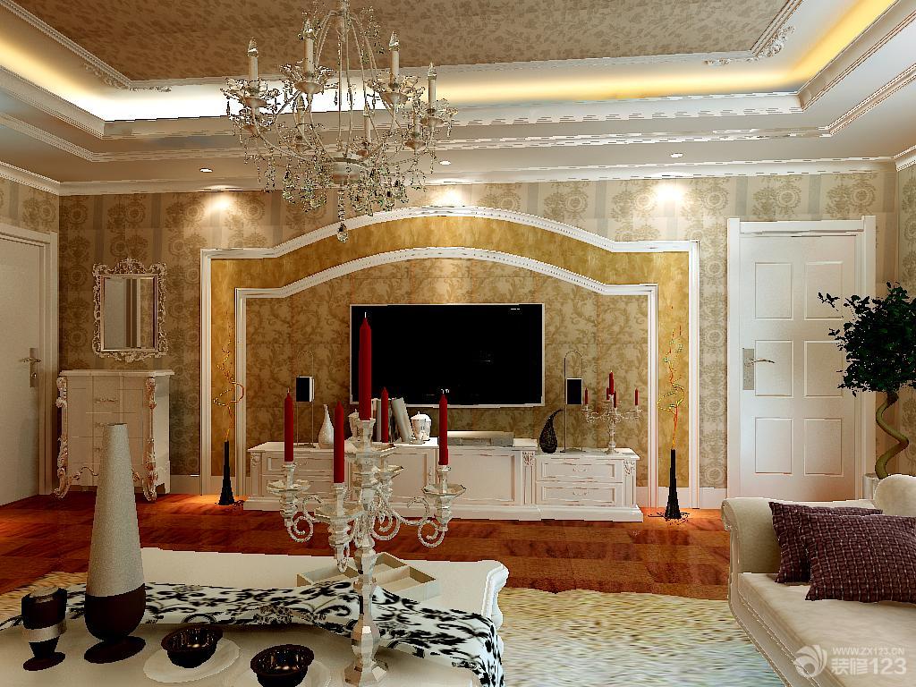 2016最新现代欧式客厅背景墙造型样板房_2016室内装修
