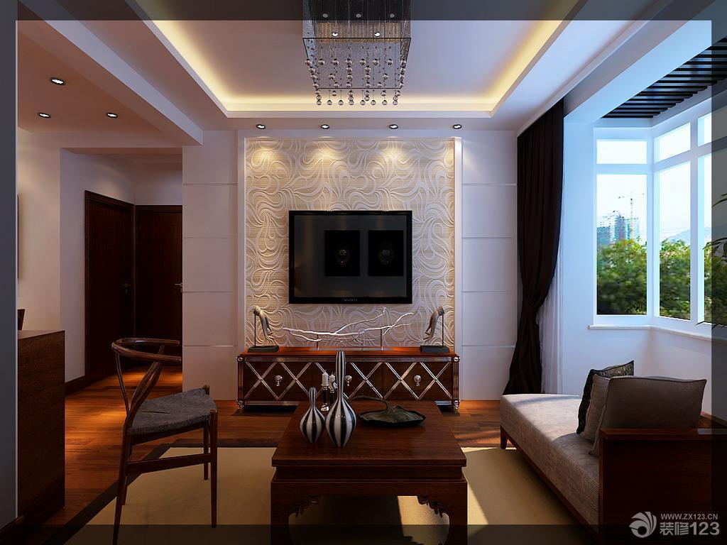 2016最新中式家装客厅窗帘效果图