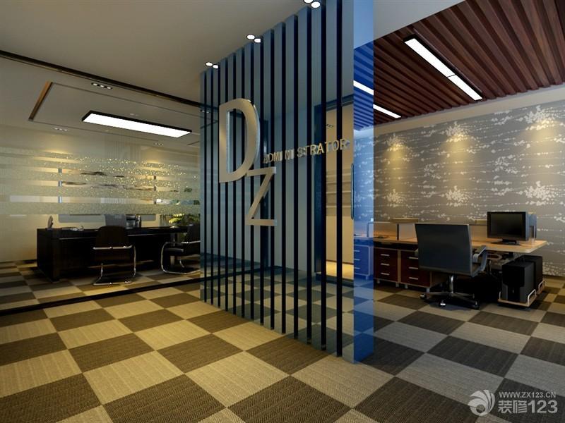 最新现代混搭风格办公室隔断装修设计效果图