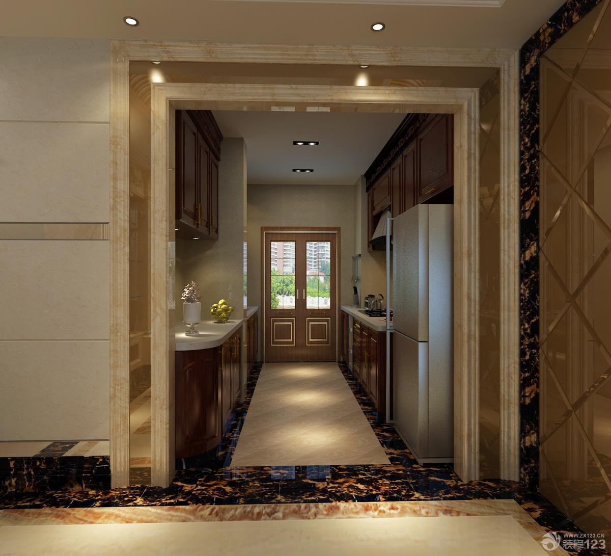 欧式厨房门框包边设计效果图片