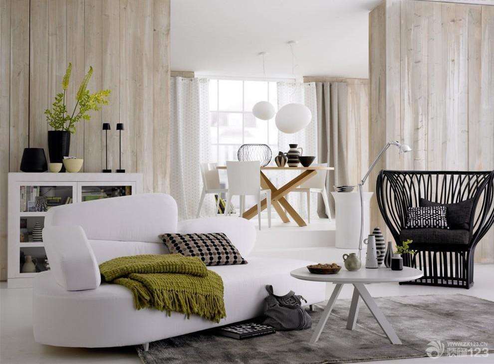 极简北欧风格小平米客厅装修图片