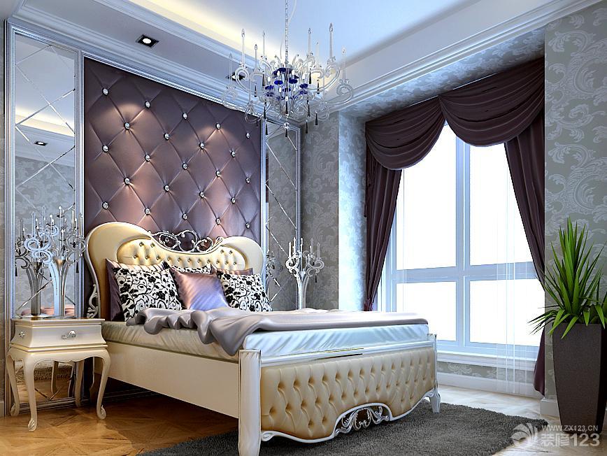 2013欧式卧室软包背景墙效果图欣赏