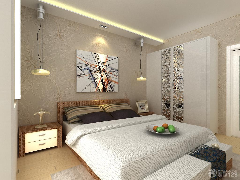 房间墙壁颜色搭配_最新现代家居卧室墙壁颜色装修效果图 _设计456装修效果图