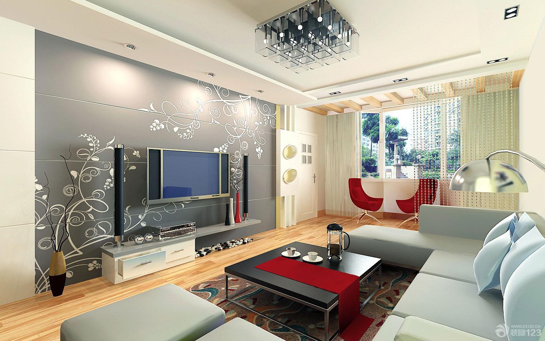 125平米房子室內客廳隱形門裝修設計