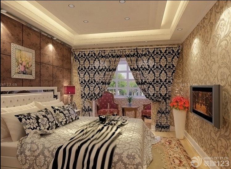 欧式风格别墅挑空客厅装修效果图片