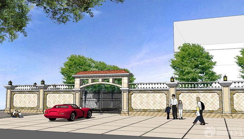简欧风格别墅围墙大门设计效果图欣赏