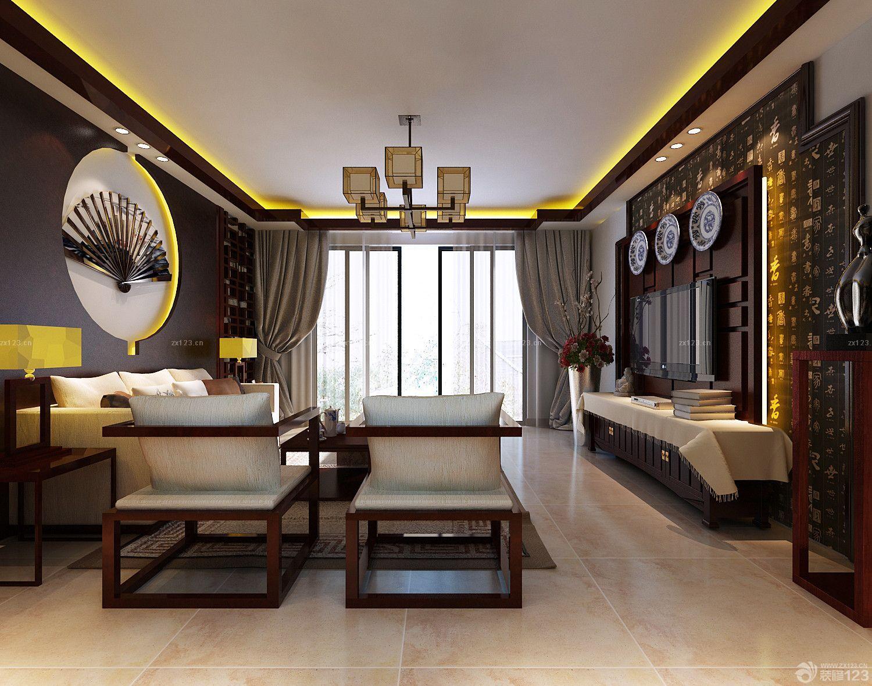 装修效果图 家居设计 田园风格家居室内18平米客厅装修效果图片