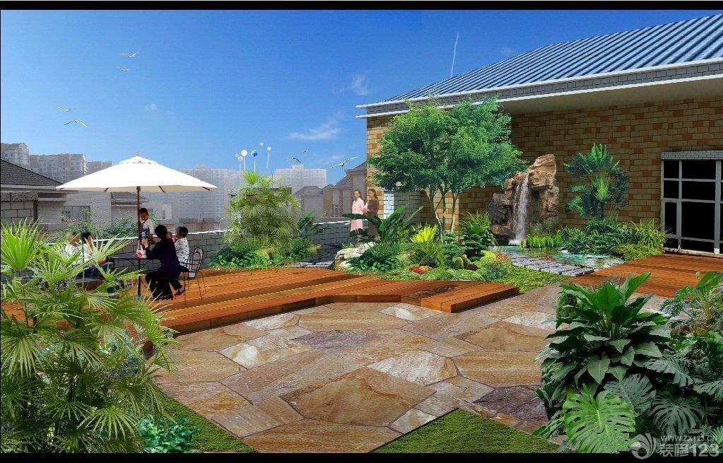 最新别墅屋顶小花园装修设计效果图欣赏