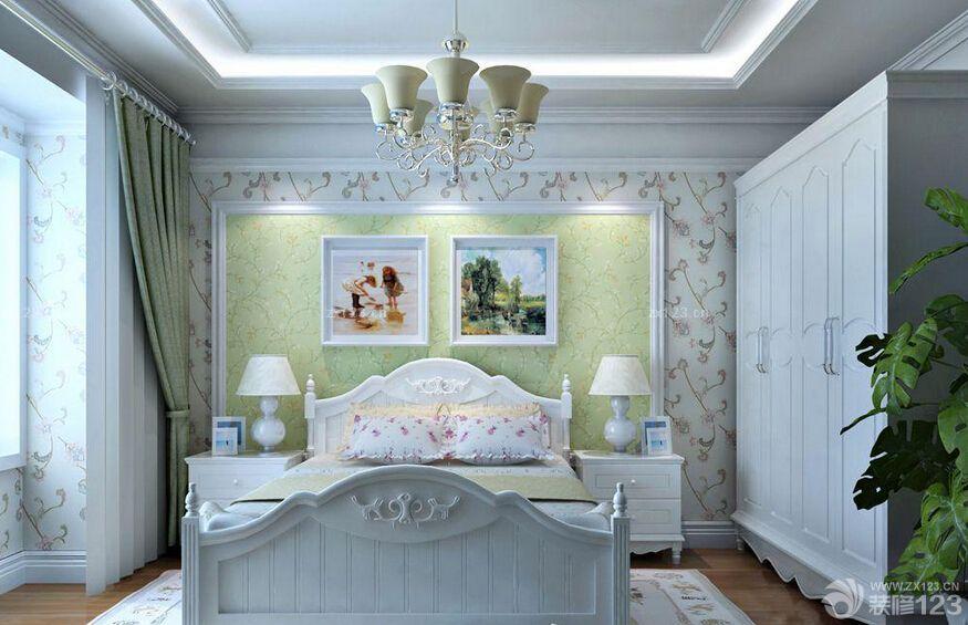 装修效果图 家居设计 最新田园风格家居主卧室床头背景墙装修图片大全