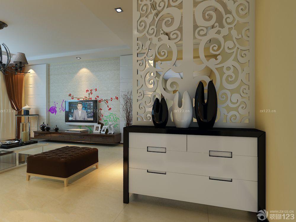 后现代风格楼中楼电视背景墙设计图片_2016室内装修图