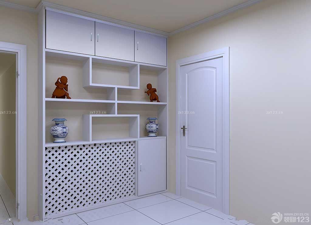 房门口鞋柜设计图片欣赏_2016室内装修效果图_设计456