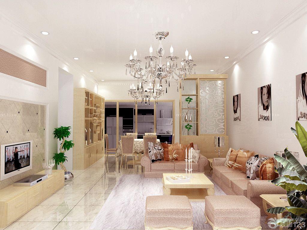 最新家庭时尚混搭风格客厅餐厅隔断博古架装修效果图