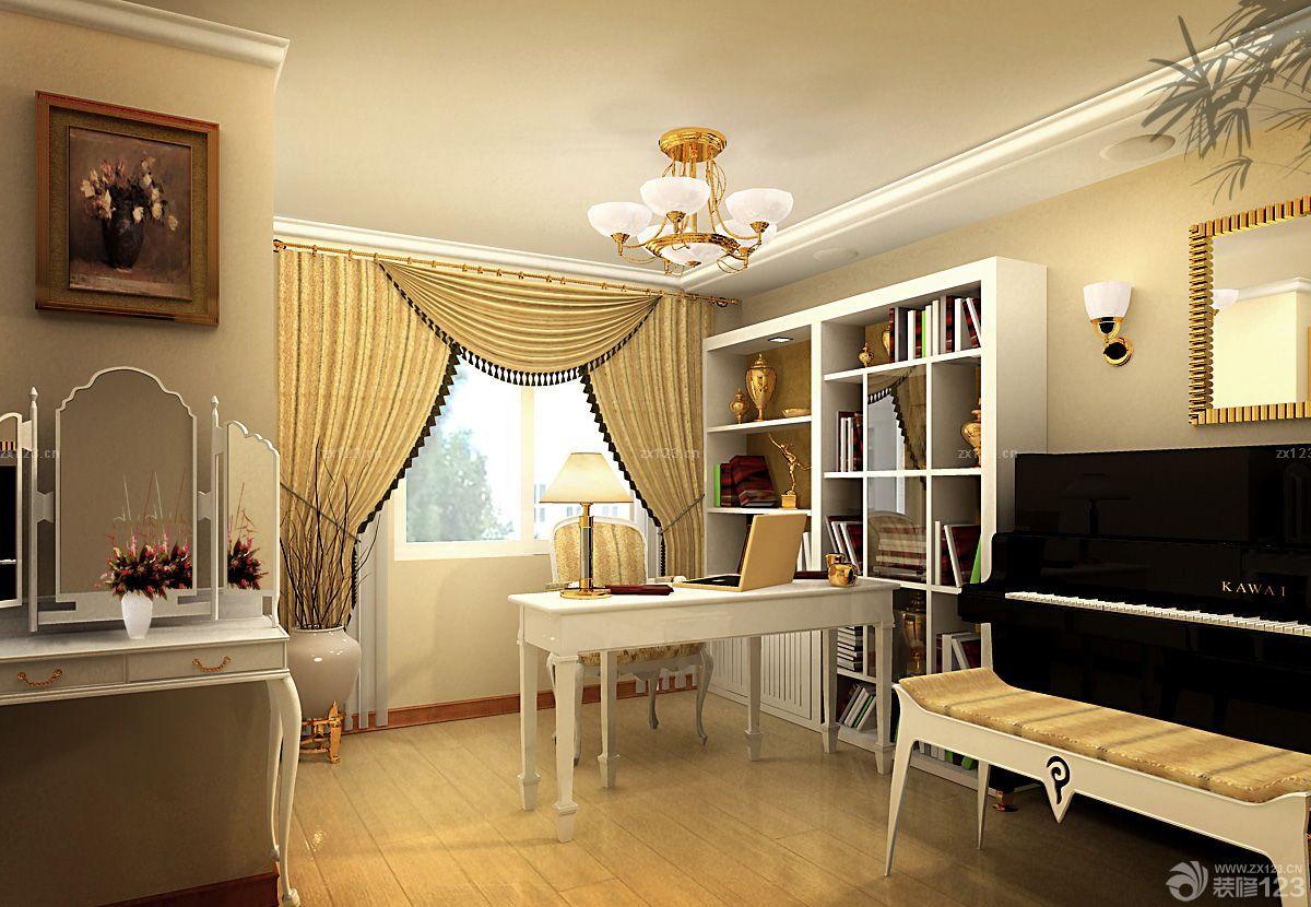 交换空间小户型带阁楼欧式书柜装修效果图