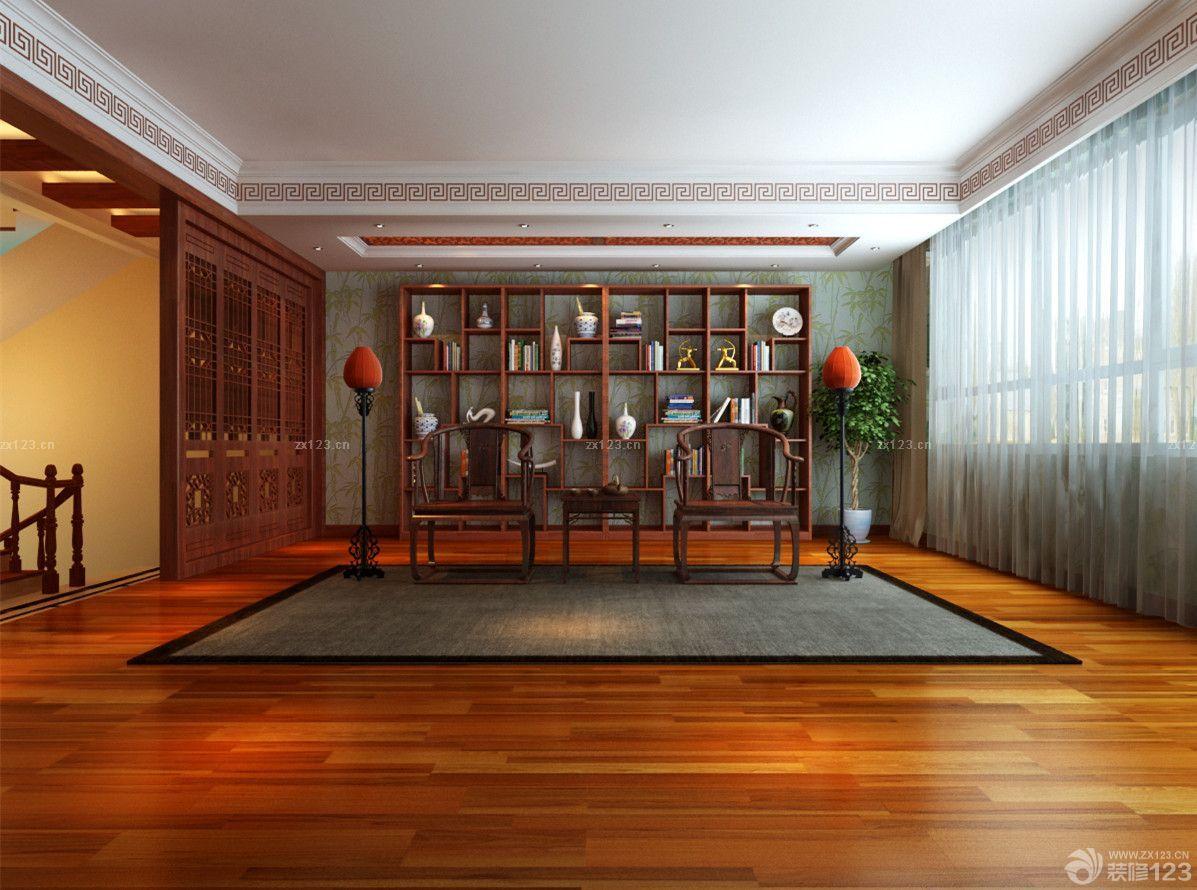 农村书柜洛阳房花园中式别墅图片欣赏_设计4别墅小洋设计图片