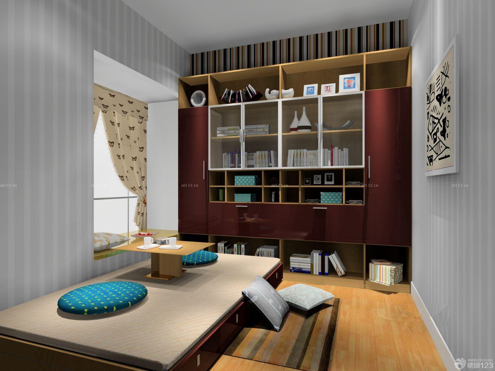 最新日式小房间书房榻榻米装修效果图欣赏