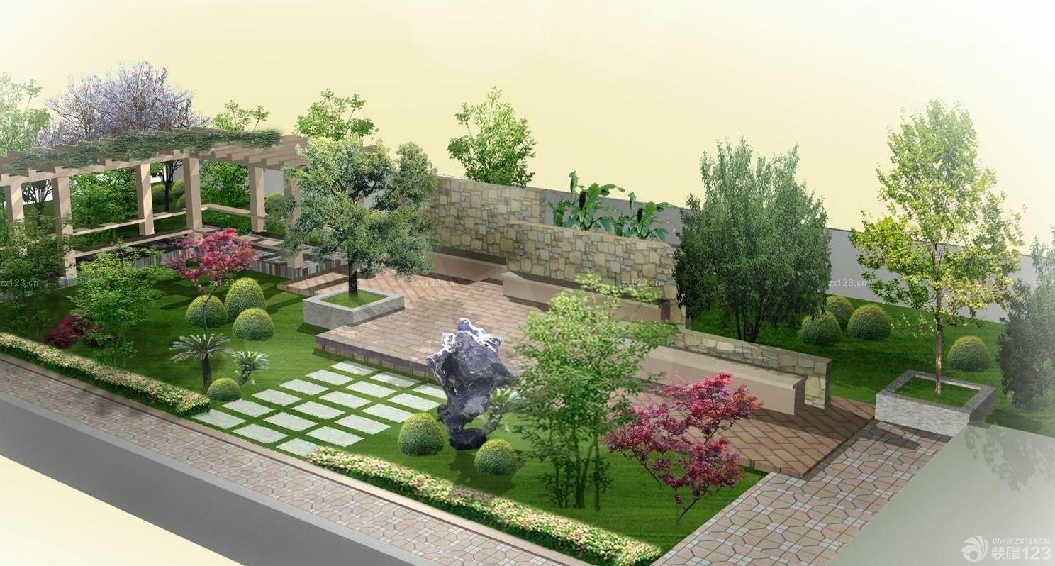 最新别墅屋顶花园设计效果图片欣赏