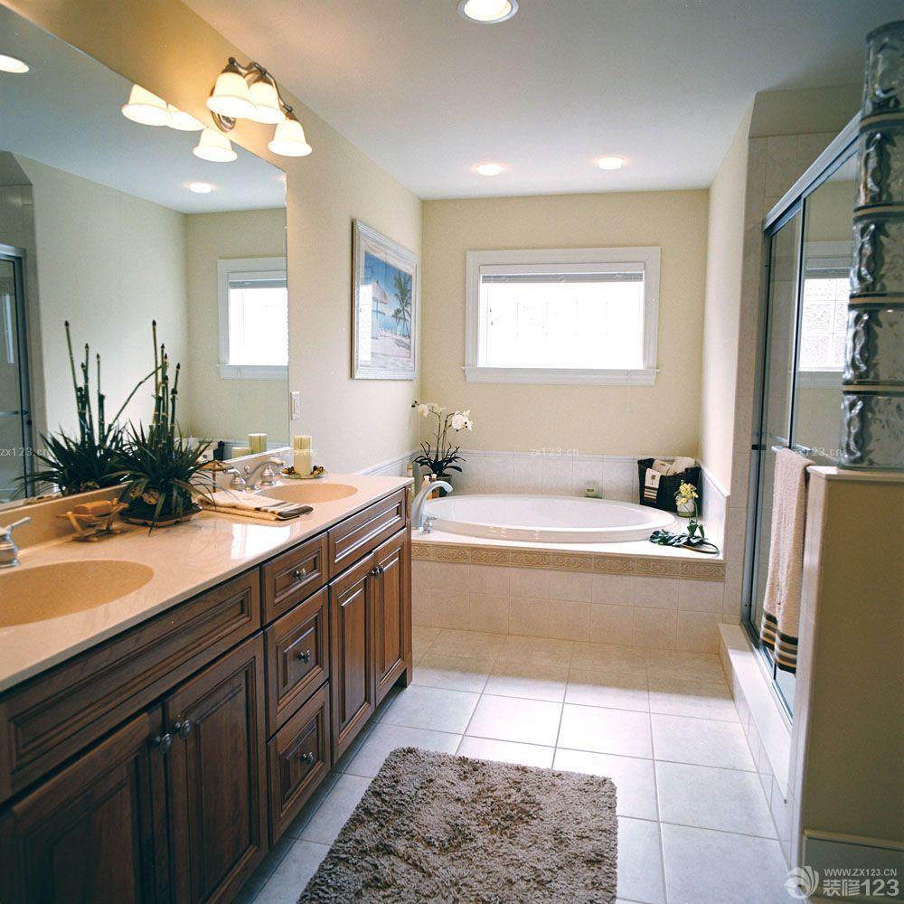 美式混搭风格家居浴室装修实景图欣赏