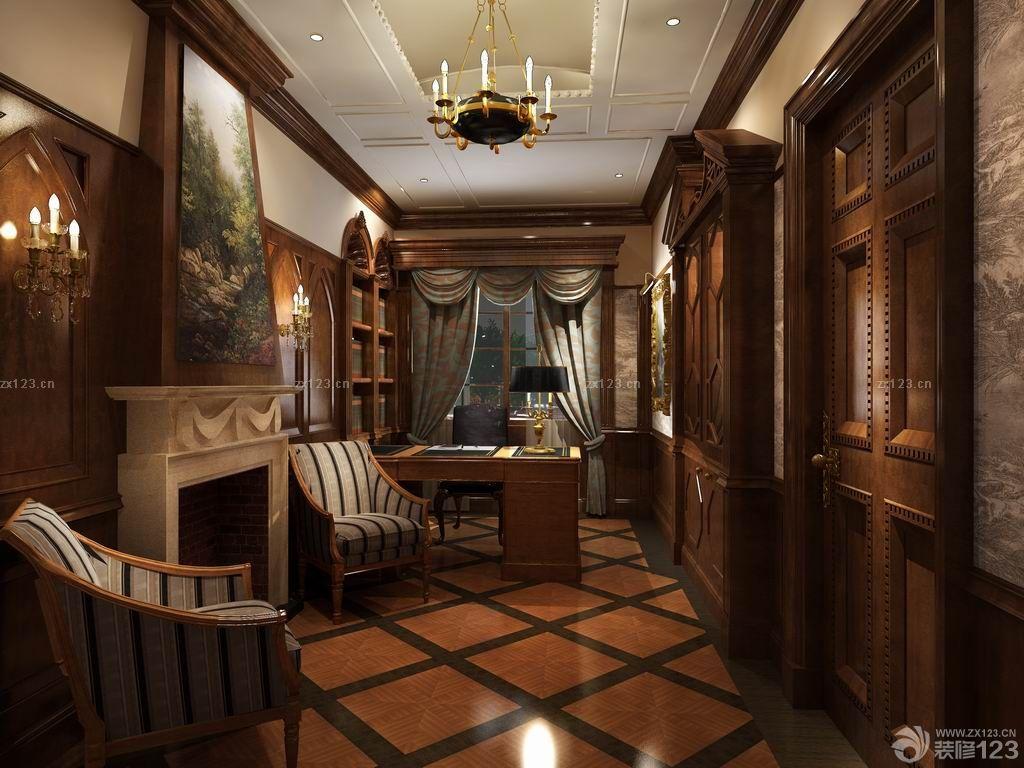 英式混搭风格复式阁楼装修效果图欣赏