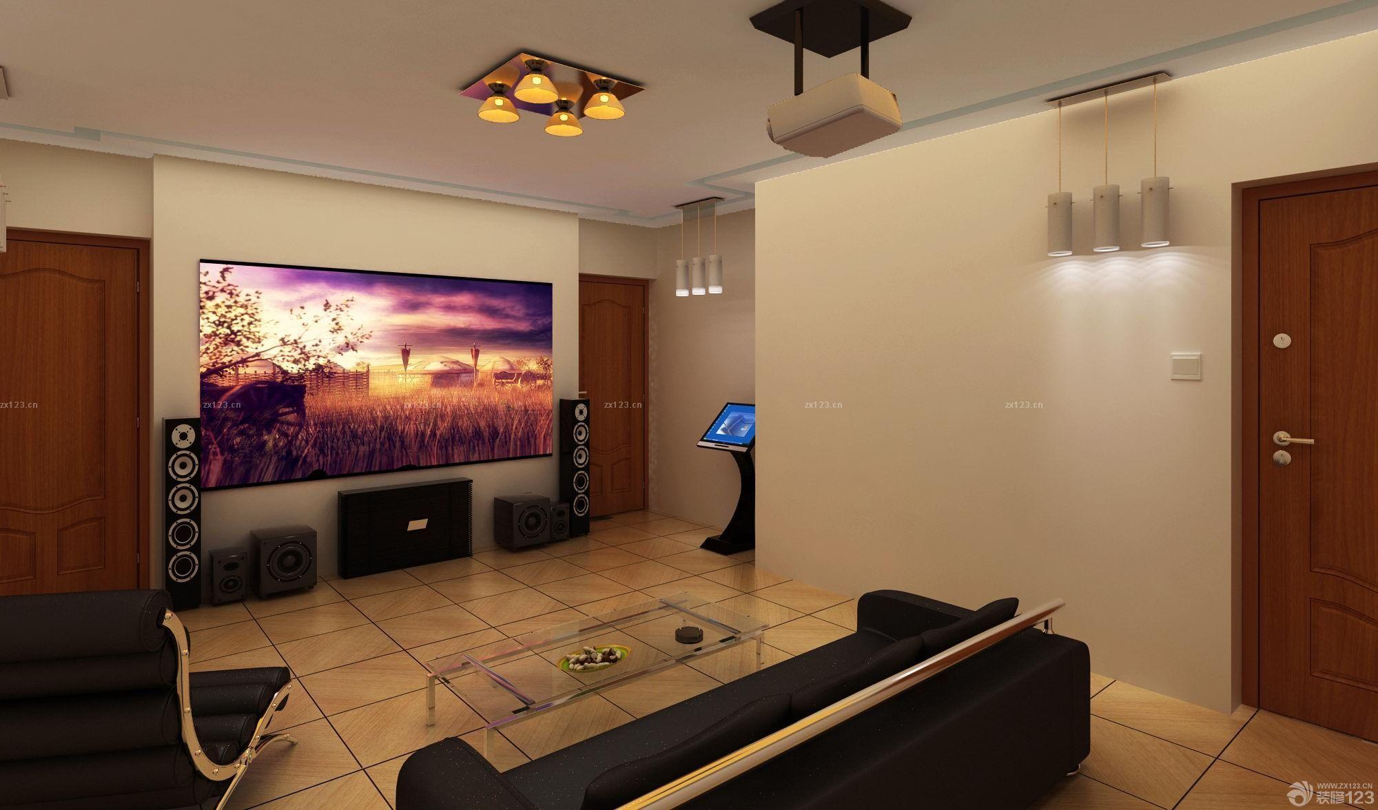 温馨家居室内木纹仿古瓷砖铺贴效果图欣赏