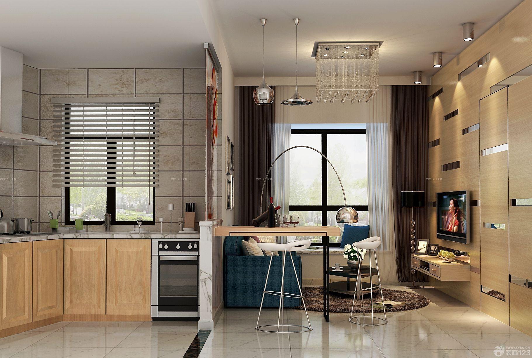 40平米小户型一室一厅客厅隐形门设计图片 设计456装修效果图