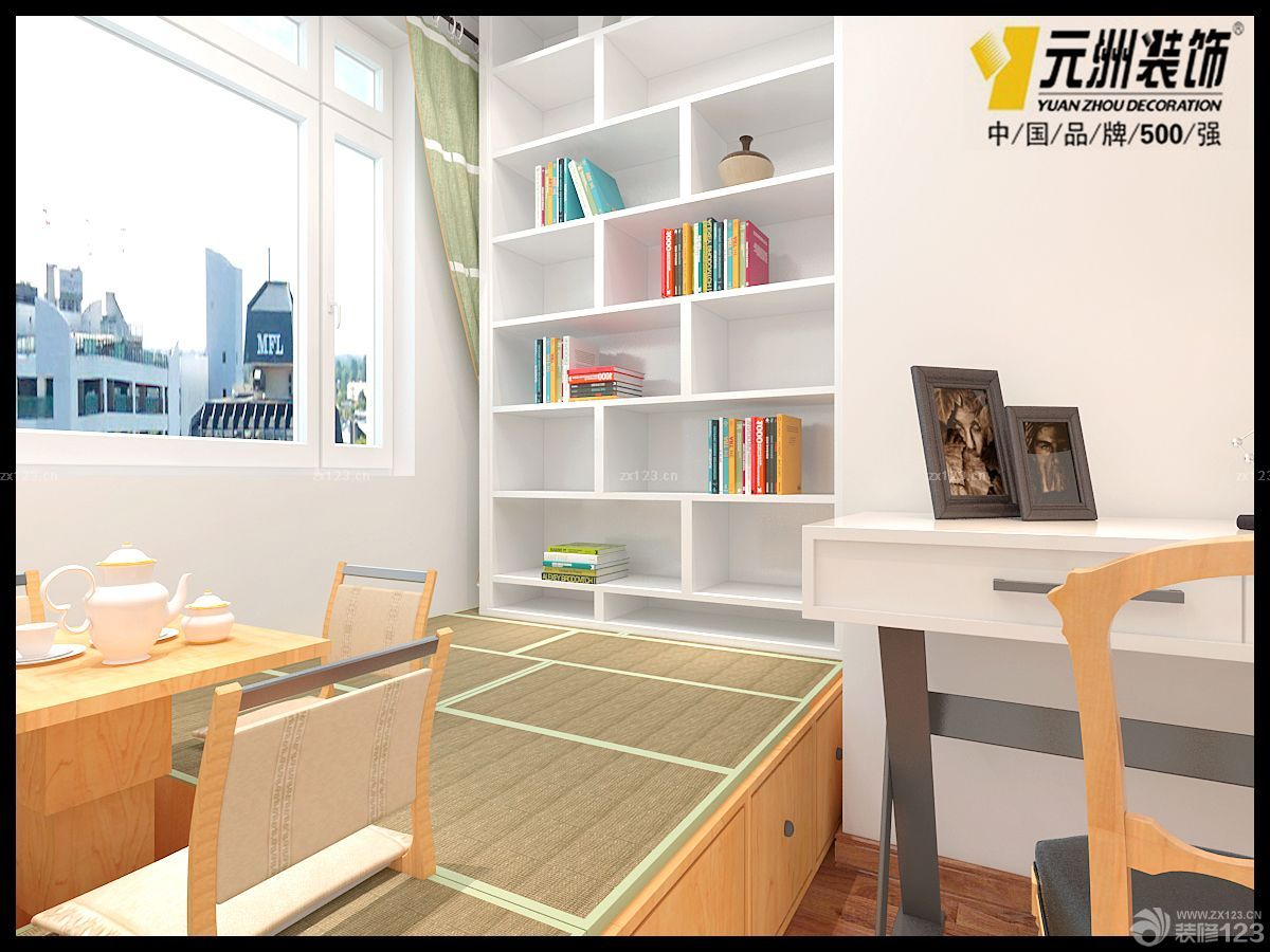 装修效果图 家居设计 现代简约风格榻榻米卧室入墙柜装修图片