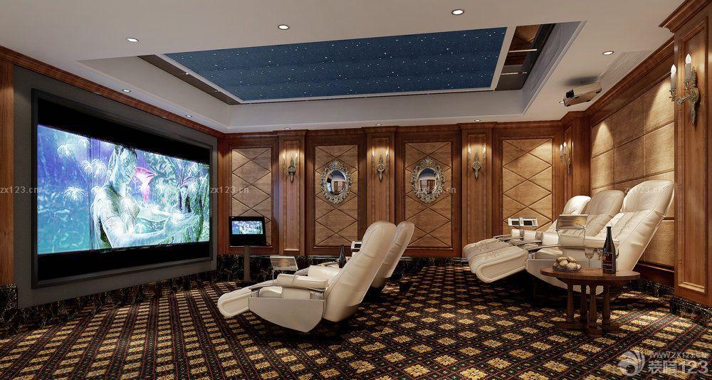 欧式新古典风格家庭影院装修效果图欣赏