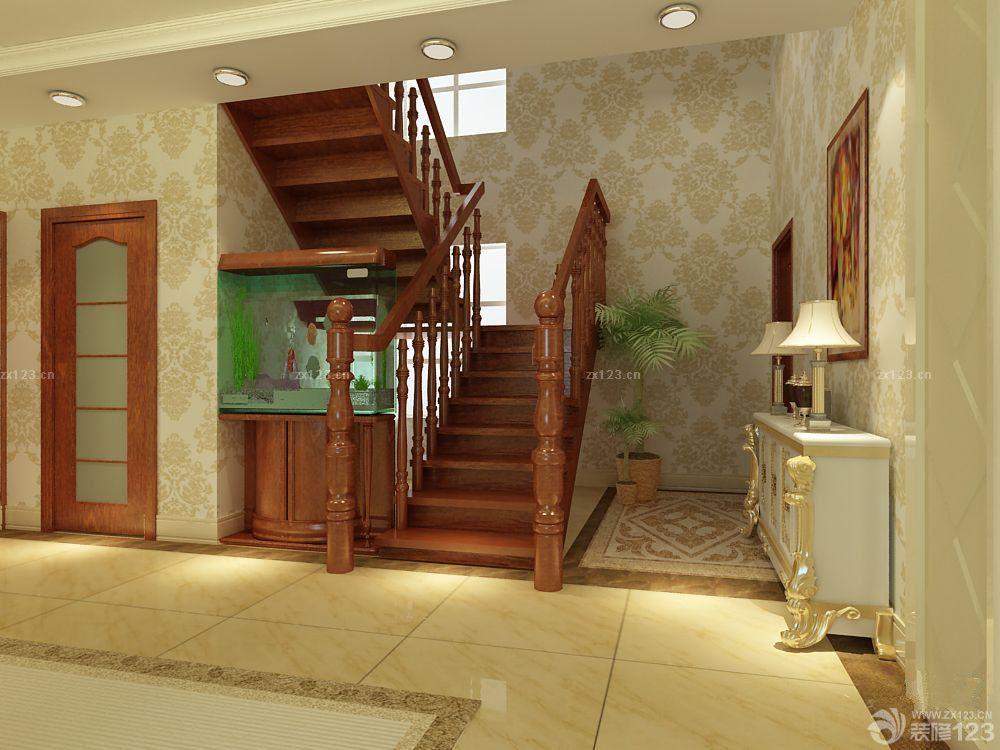 时尚家装浴室木纹仿古瓷砖设计效果图_2016室内装修图