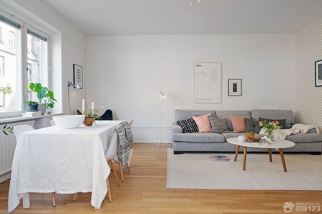 北欧风格大客厅木地板设计效果图欣赏