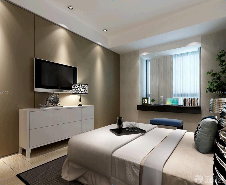 15平米卧室室内电视背景墙装修效果图
