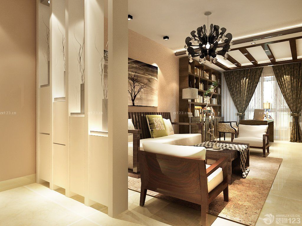 100平米客厅隔断装修设计图片