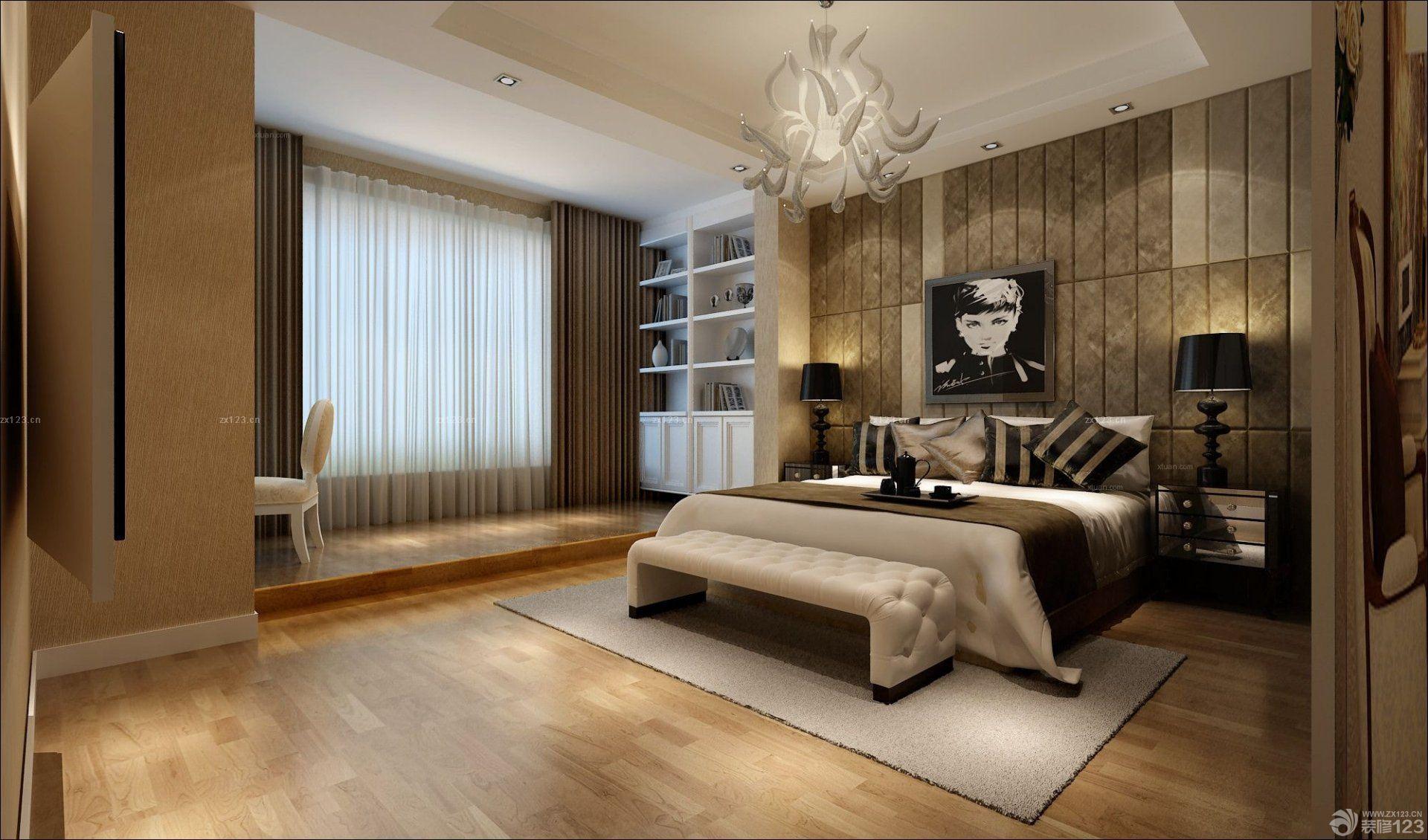 12平米卧室美式壁纸装修图片