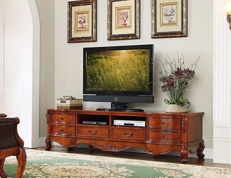 精品家装美式实木电视柜设计案例大全