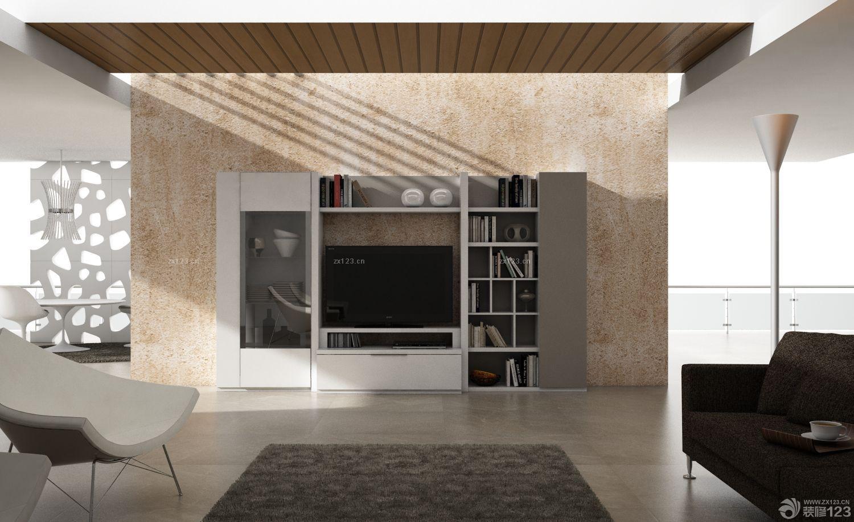 2016家装客厅电视柜子背景墙装修图片