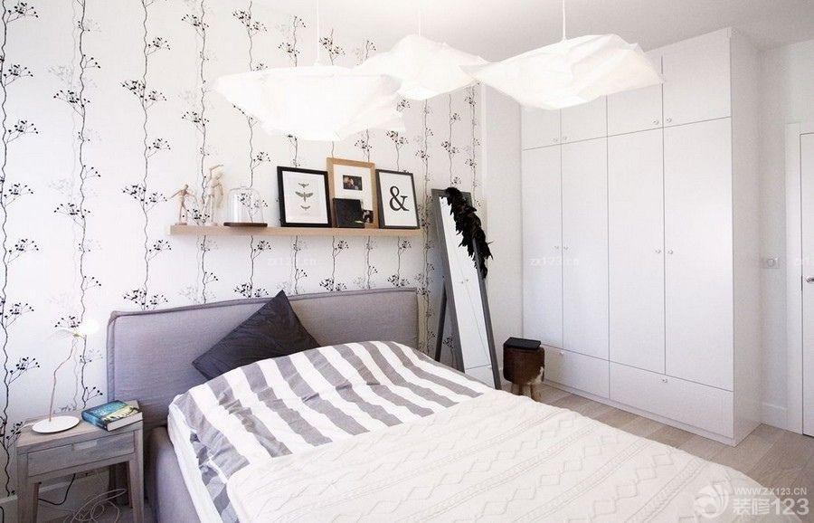 北欧风格主卧室衣柜效果图片