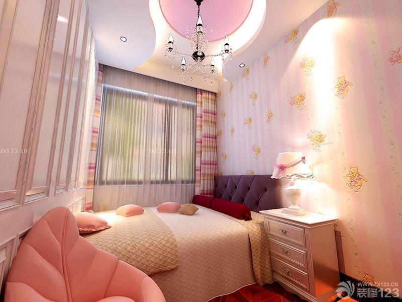 欧式儿童房卧室墙纸图片欣赏