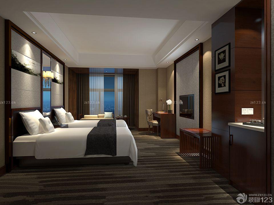 酒店标准间装修效果图