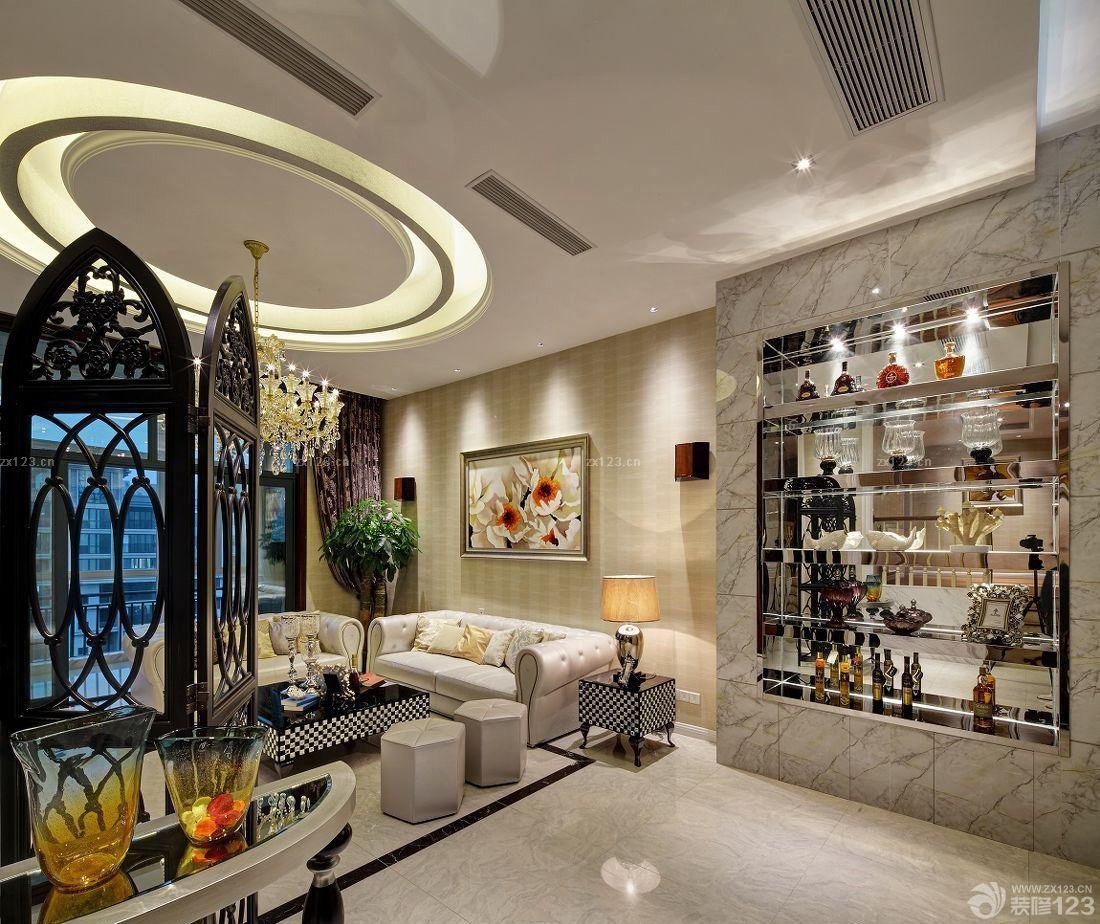 新房客厅欧式酒柜装修效果图图片大全