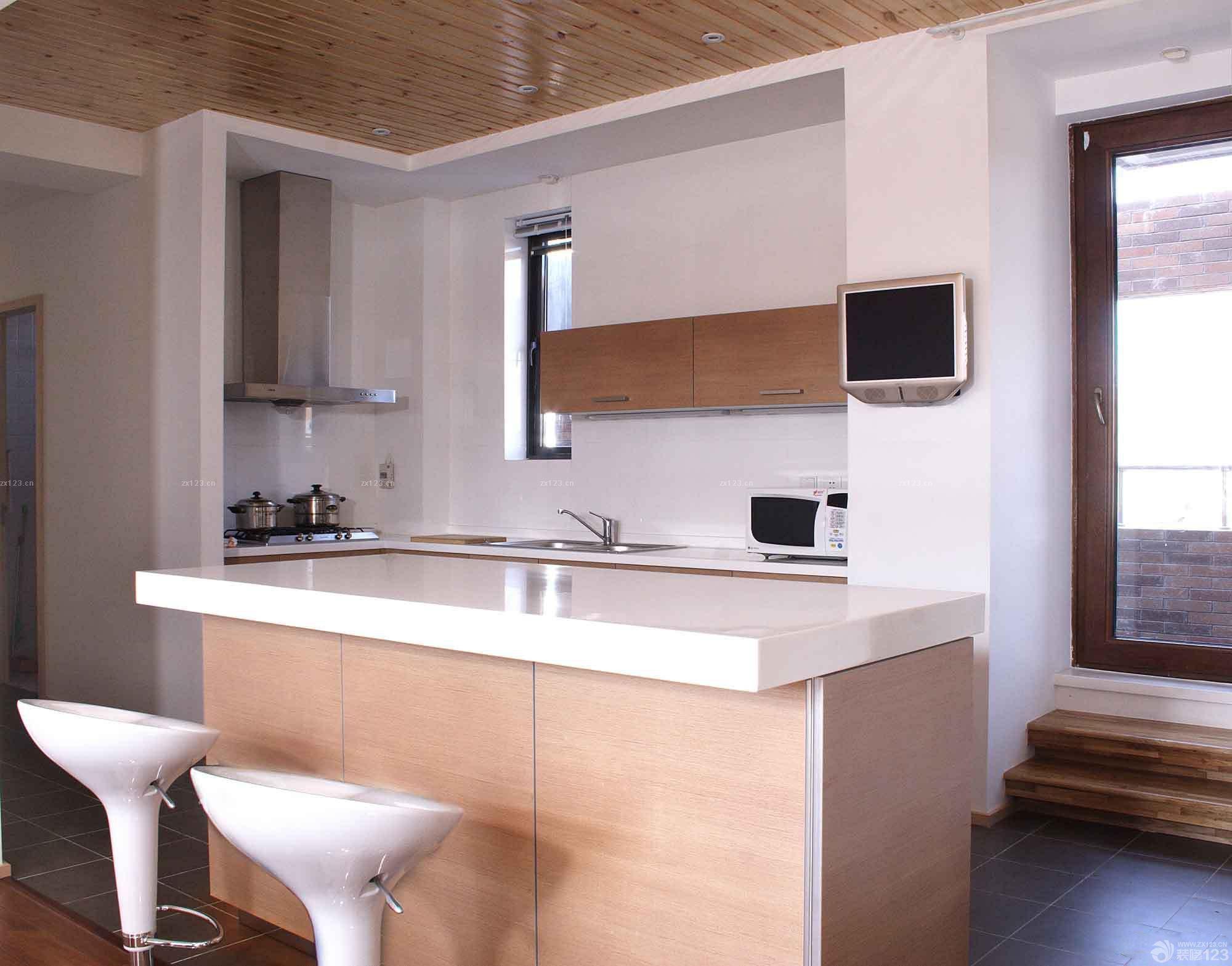 装修效果图 家居设计 最新30平米公寓敞开式厨房装修效果图大全
