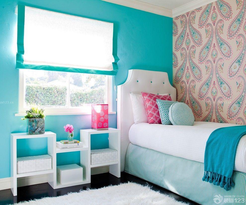 創意現代臥室液態壁紙圖片大全