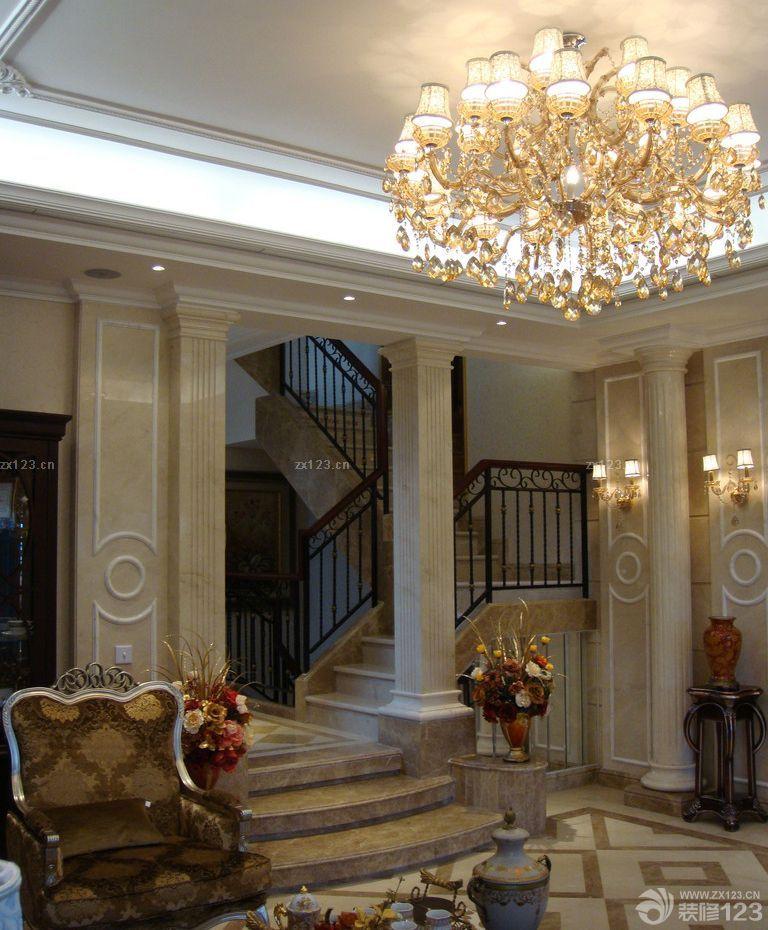 欧式风格客厅柱子装修效果图片大全