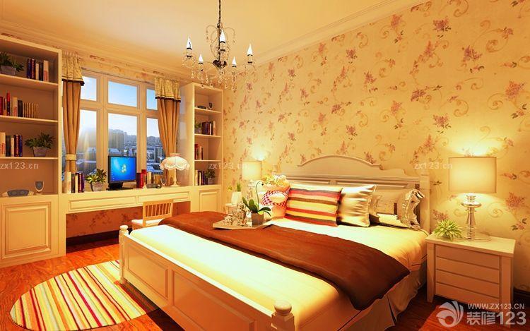 女生卧室飘窗书桌设计图