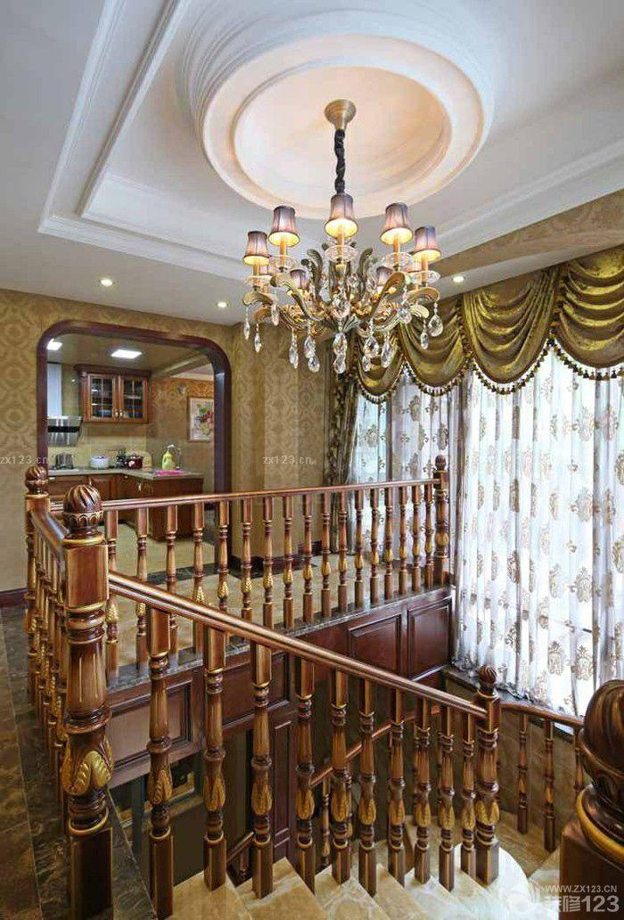 钢木楼梯间吊顶装修设计效果图大全赏析