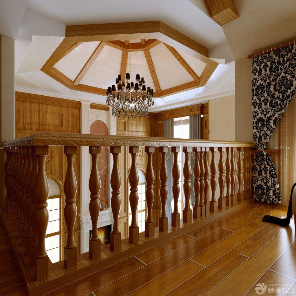 室内木楼梯间吊顶装修图片大全