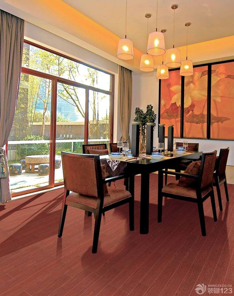 古典中式木纹仿古瓷砖装修案例大全2015