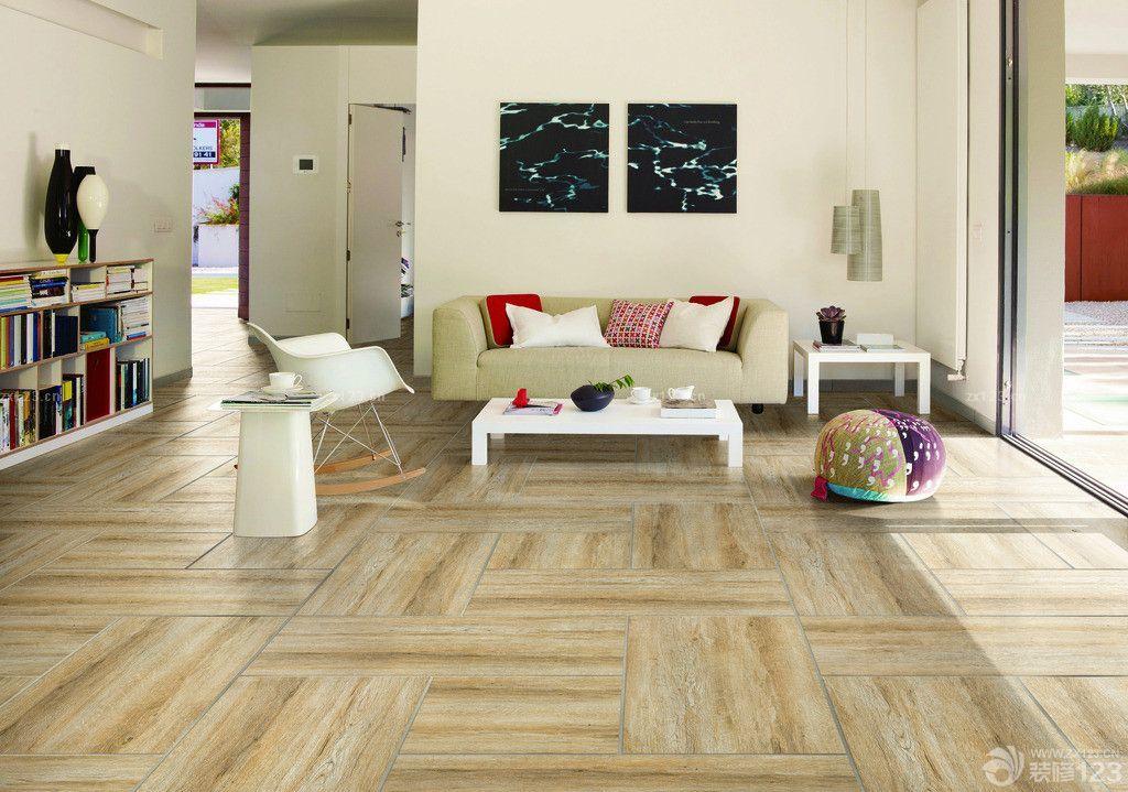 木纹仿古瓷砖客厅装修效果图片欣赏